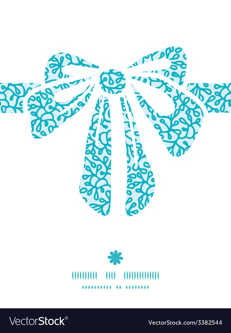 Abstract underwater plants gift bow silhouette vector | Price: 1 Credit (USD $1)