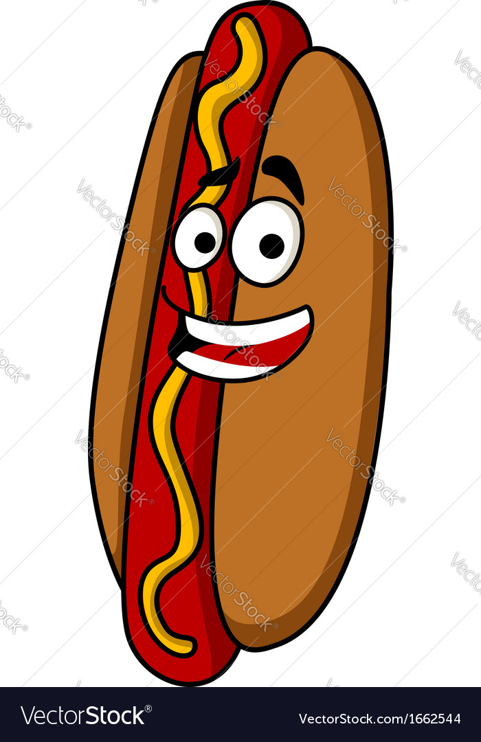 Appetizing hot dog with mustard vector | Price: 1 Credit (USD $1)