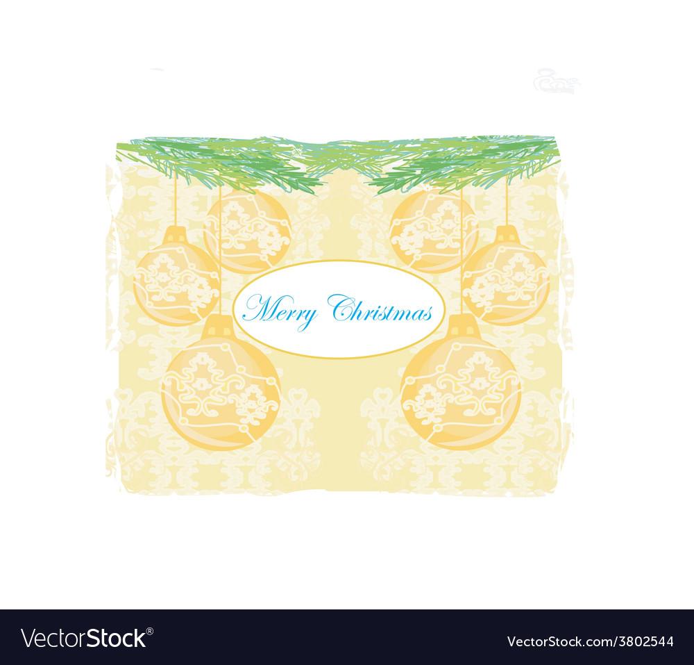 Christmas framework style card vector | Price: 1 Credit (USD $1)