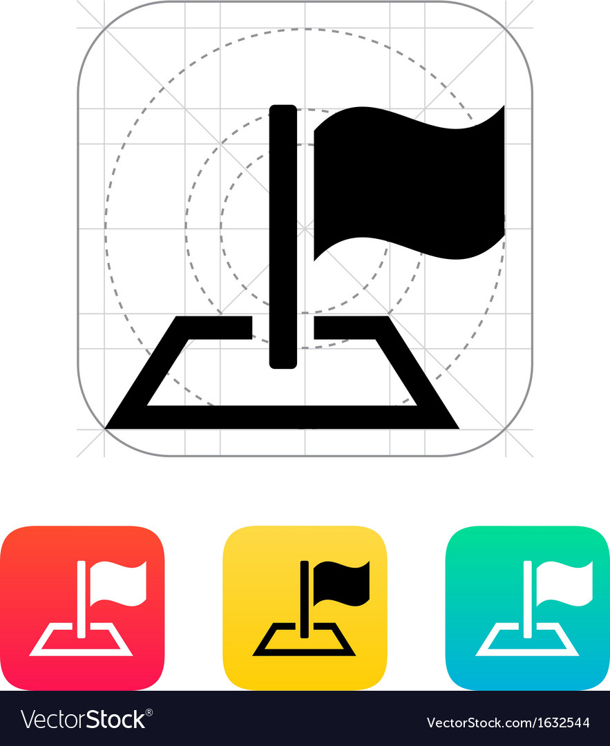 Flag icon vector | Price: 1 Credit (USD $1)