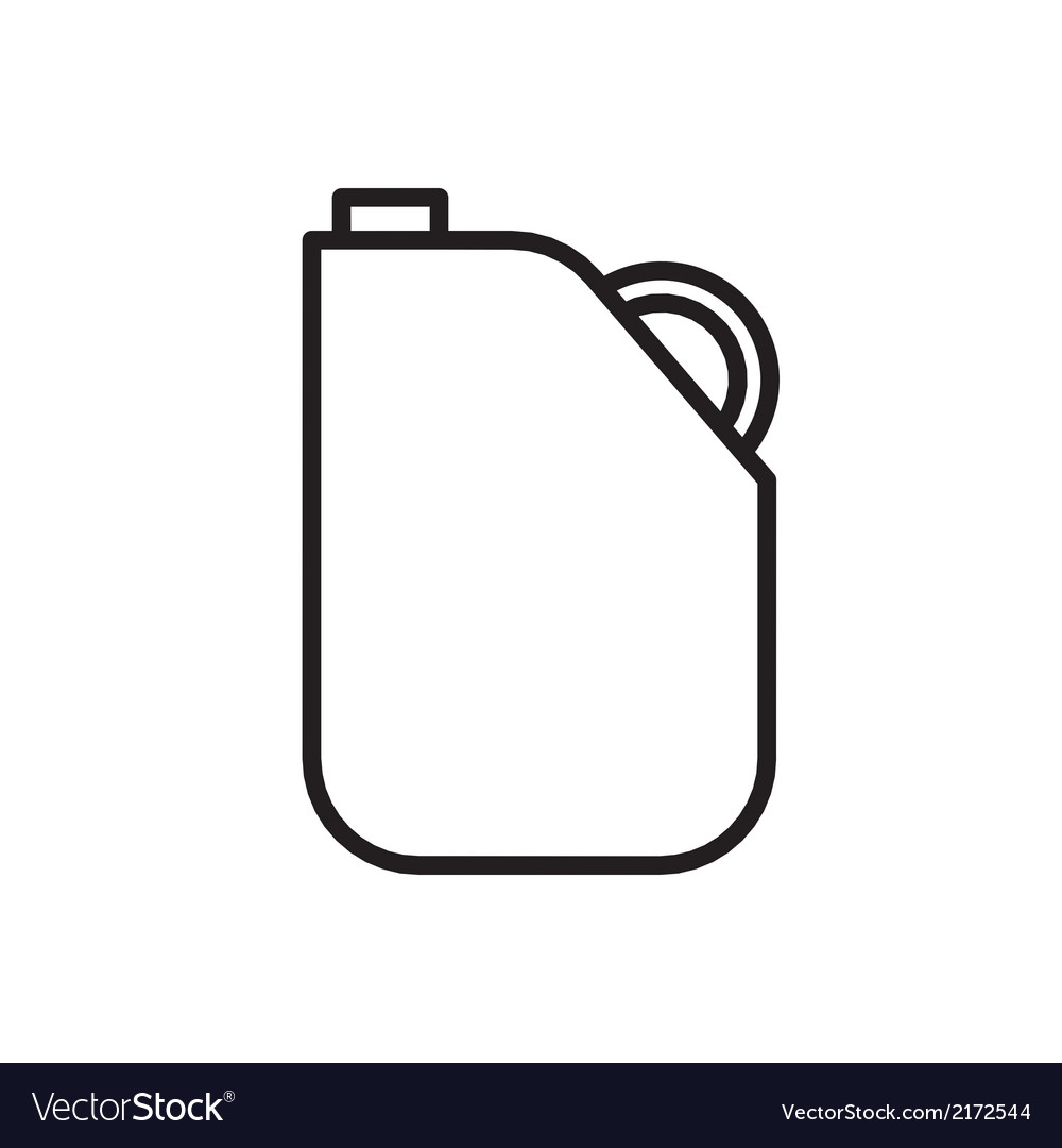 Gas gallon outline vector | Price: 1 Credit (USD $1)