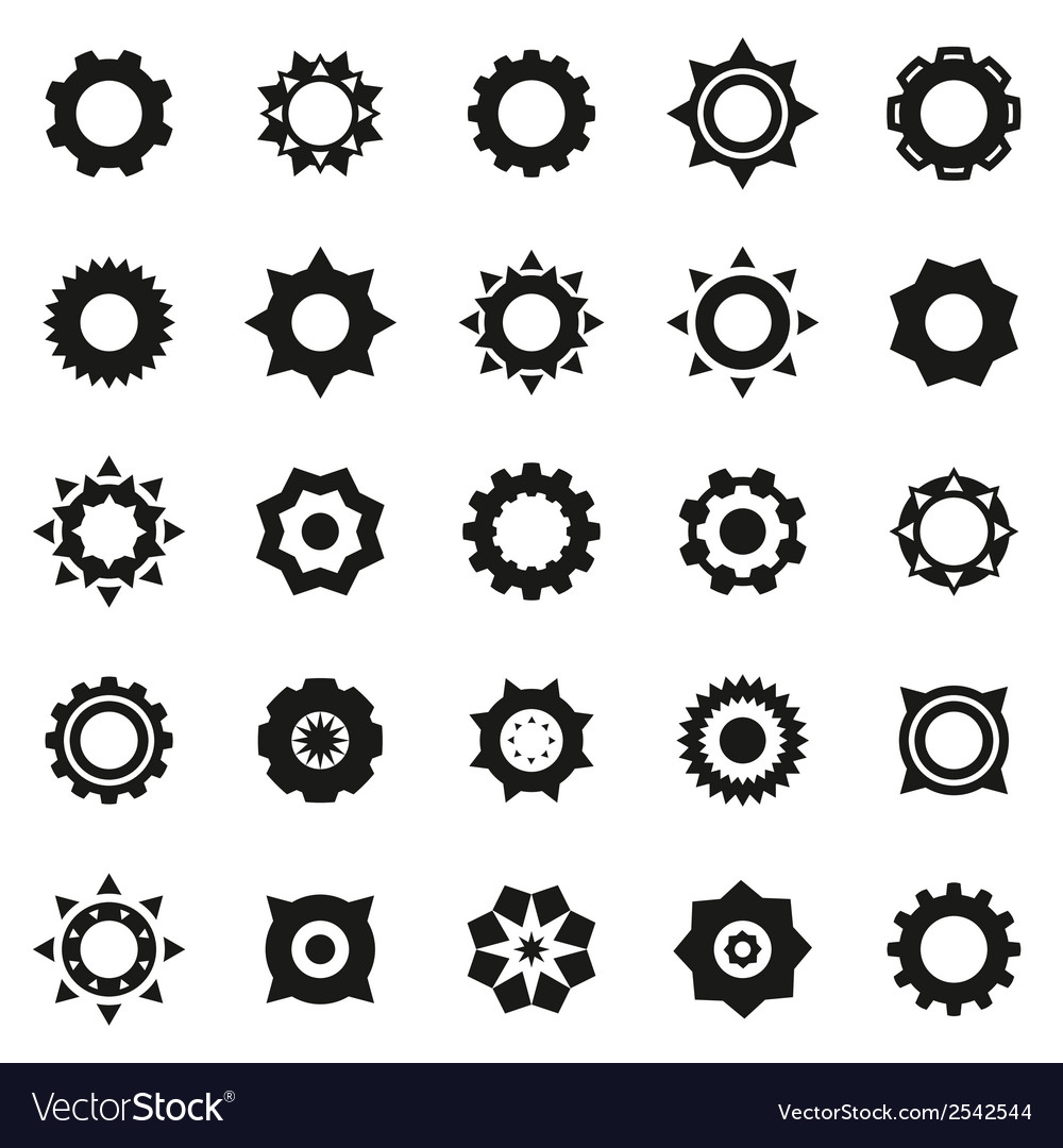 Gears icons set vector | Price: 1 Credit (USD $1)