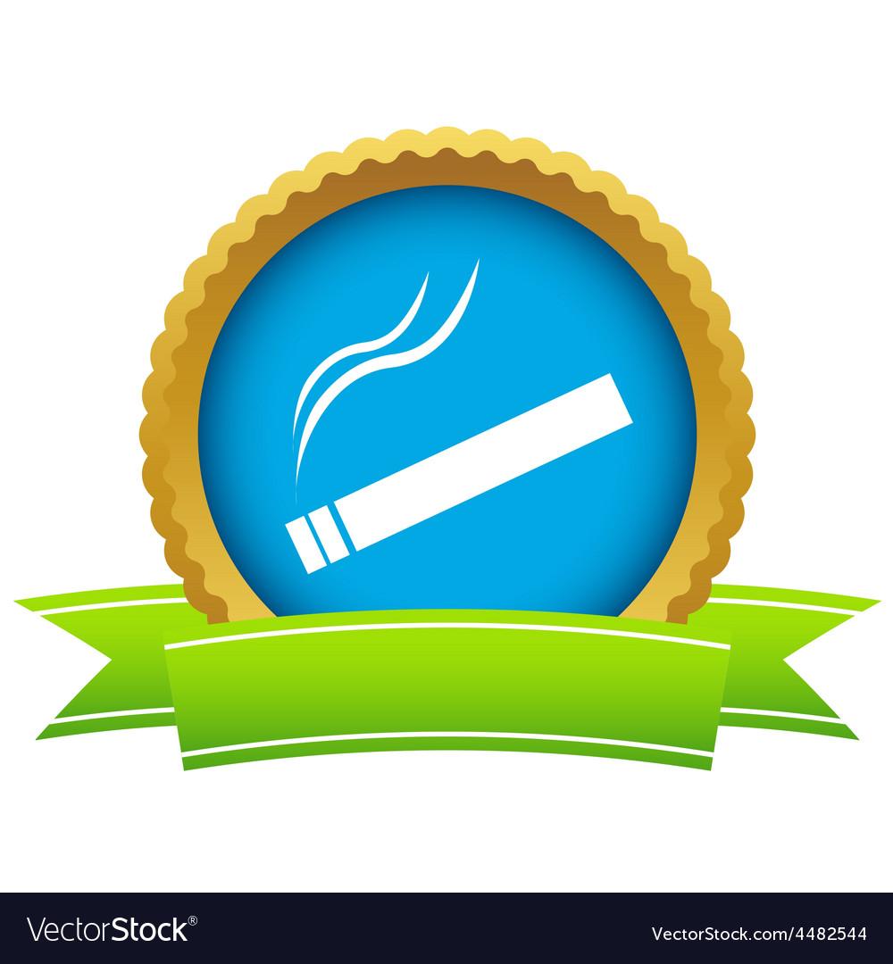 Gold cigarette logo vector | Price: 1 Credit (USD $1)