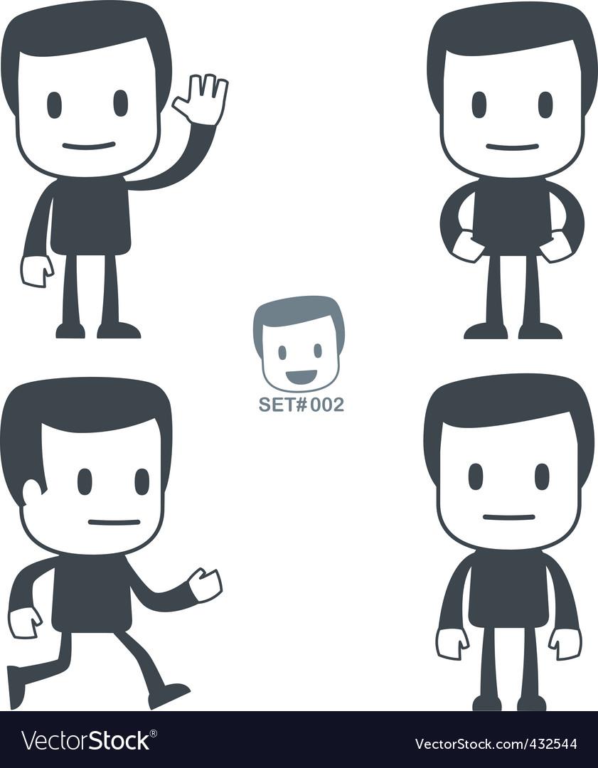 Greeting icon man vector | Price: 1 Credit (USD $1)