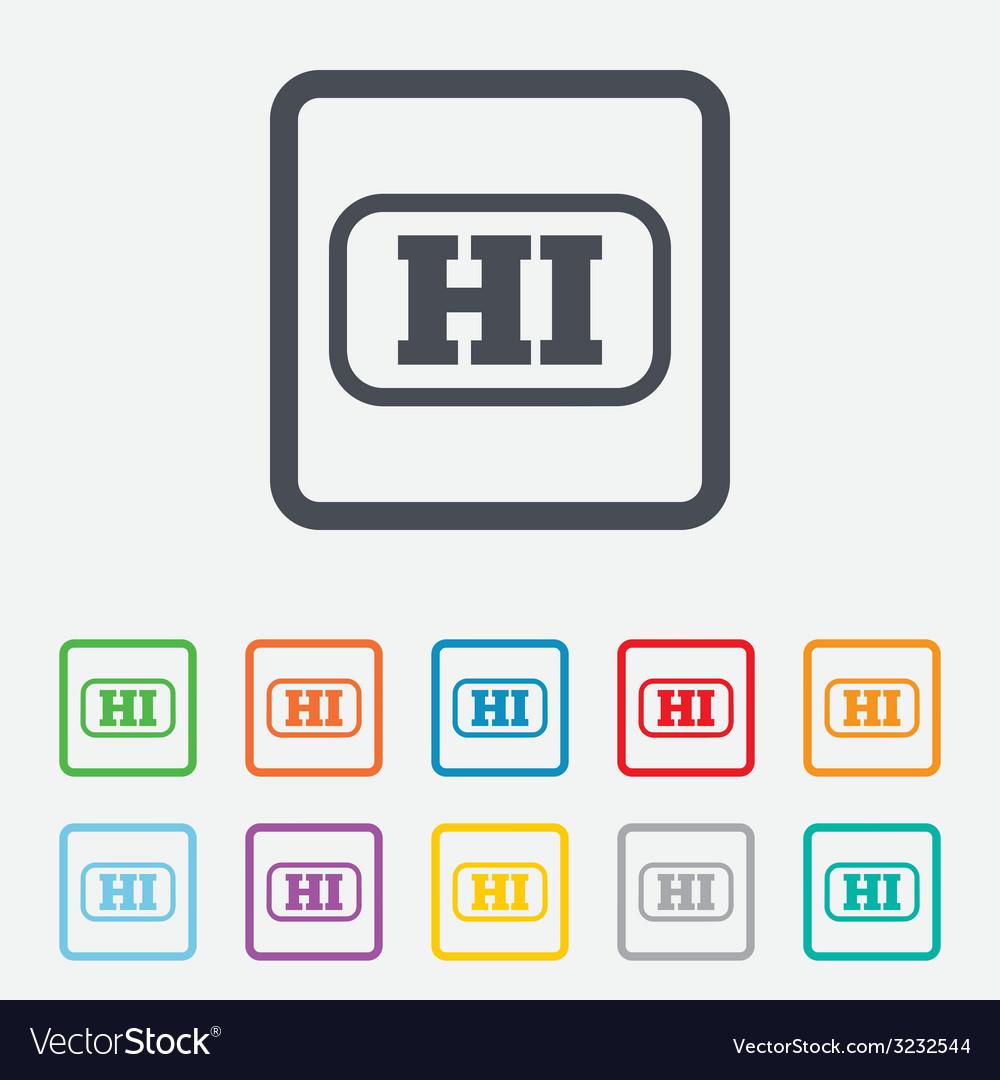 Hindi language sign icon hi india translation vector | Price: 1 Credit (USD $1)