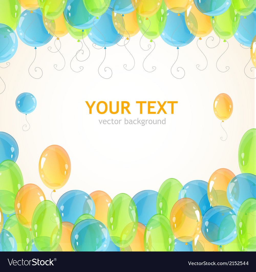 Holiday frame with colorful balloons vector | Price: 1 Credit (USD $1)