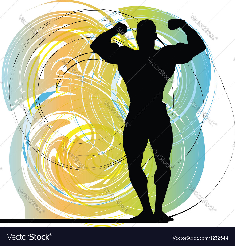 Male body builder vector | Price: 1 Credit (USD $1)