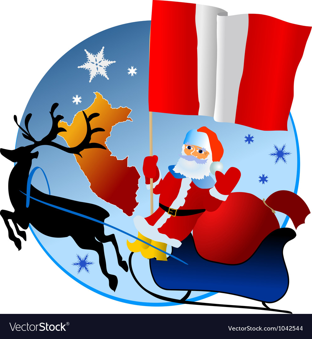 Merry christmas peru vector   Price: 1 Credit (USD $1)