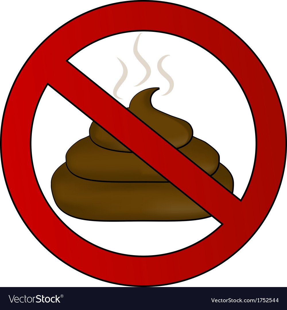 No poop sign vector | Price: 1 Credit (USD $1)