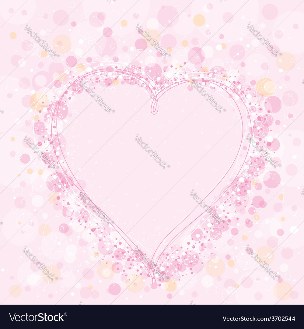 Valentine pink heart vector | Price: 1 Credit (USD $1)