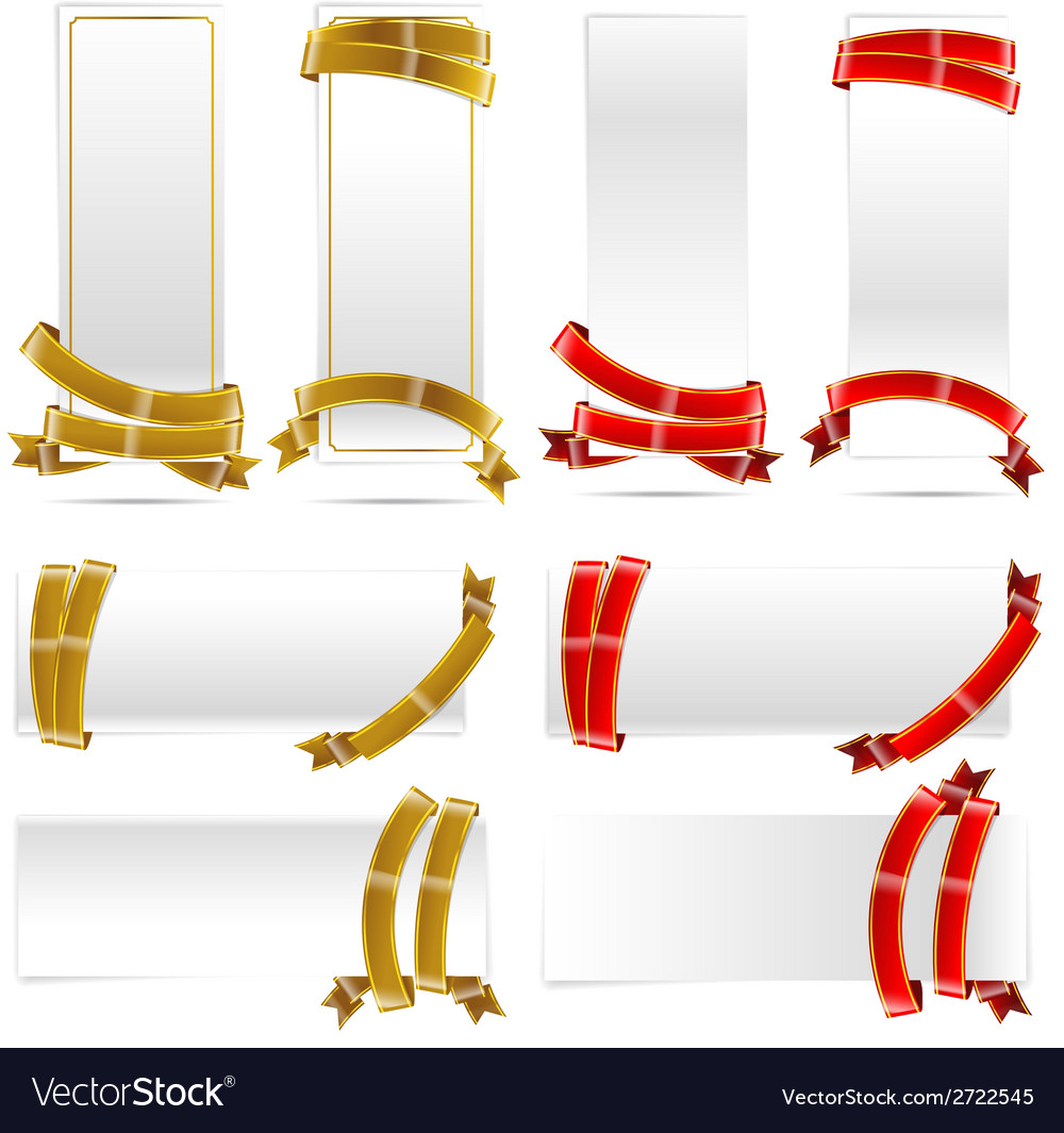 Banner with ribbon 008 vector | Price: 1 Credit (USD $1)