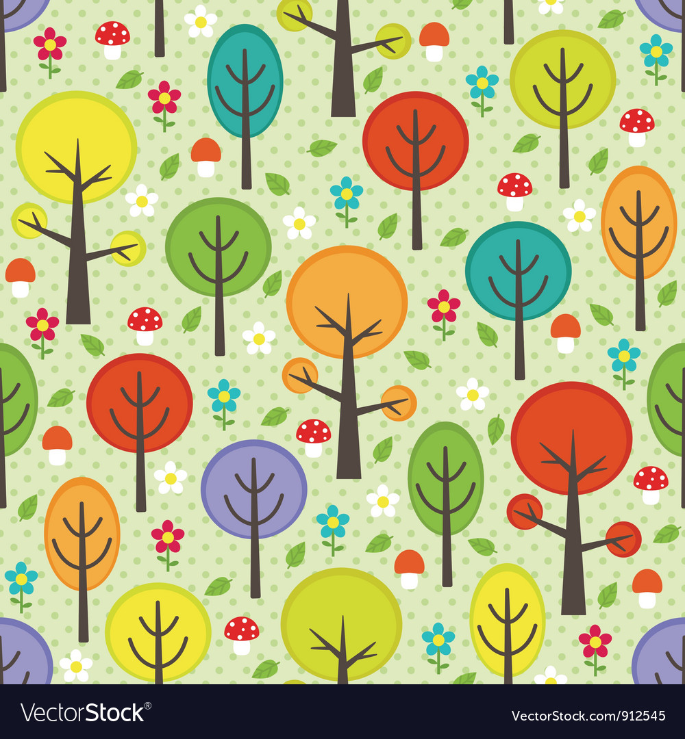 Forest seamless background vector   Price: 1 Credit (USD $1)