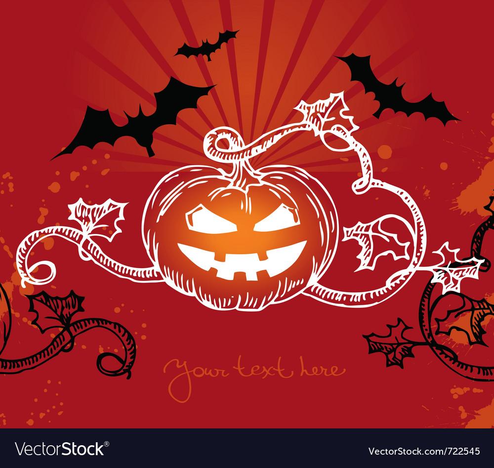 Halloween with pumpkin vector | Price: 1 Credit (USD $1)