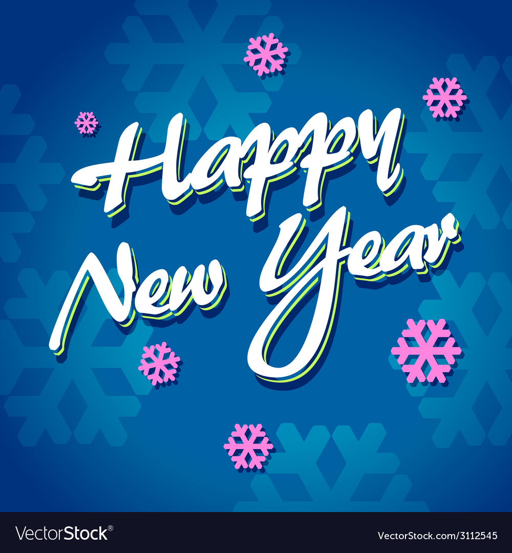 Happy new year lettering vector | Price: 1 Credit (USD $1)