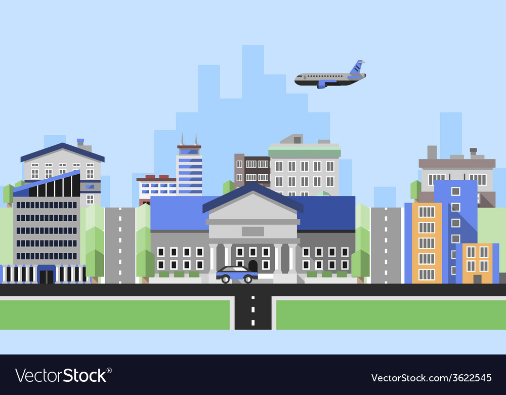 Office buildings background vector | Price: 1 Credit (USD $1)