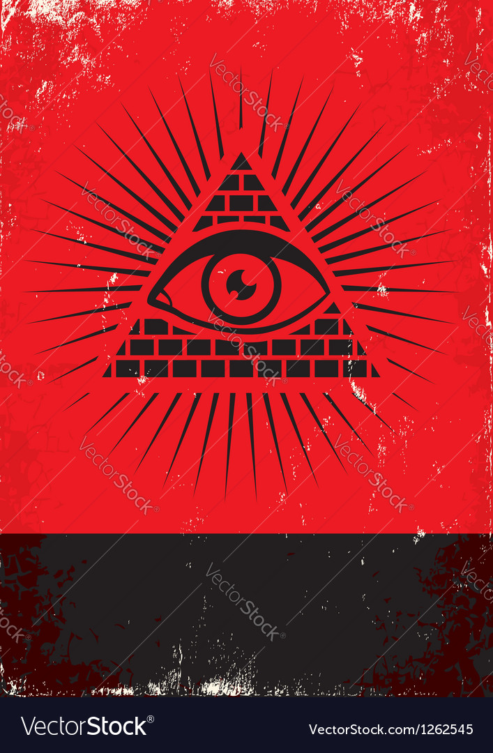 Pyramid and the eye vector | Price: 1 Credit (USD $1)