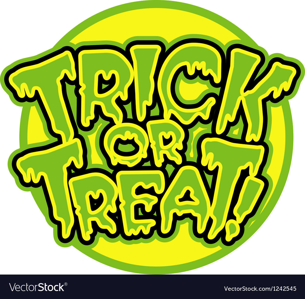 Trick or treat logo vector | Price: 1 Credit (USD $1)