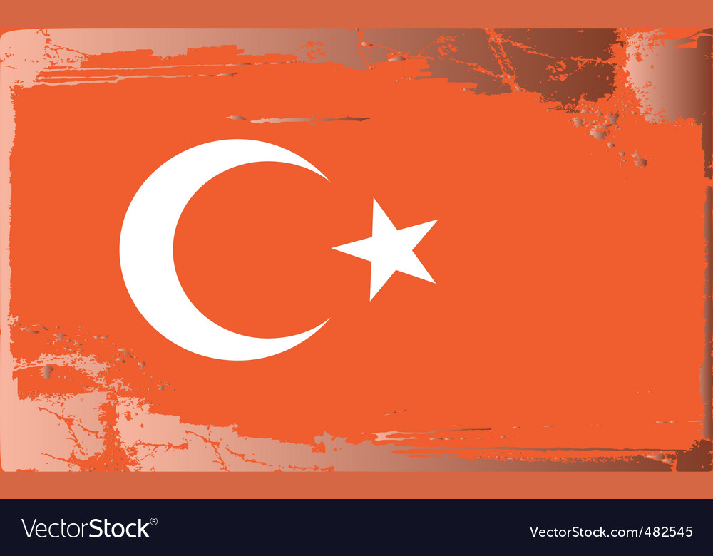Turkey national flag vector | Price: 1 Credit (USD $1)