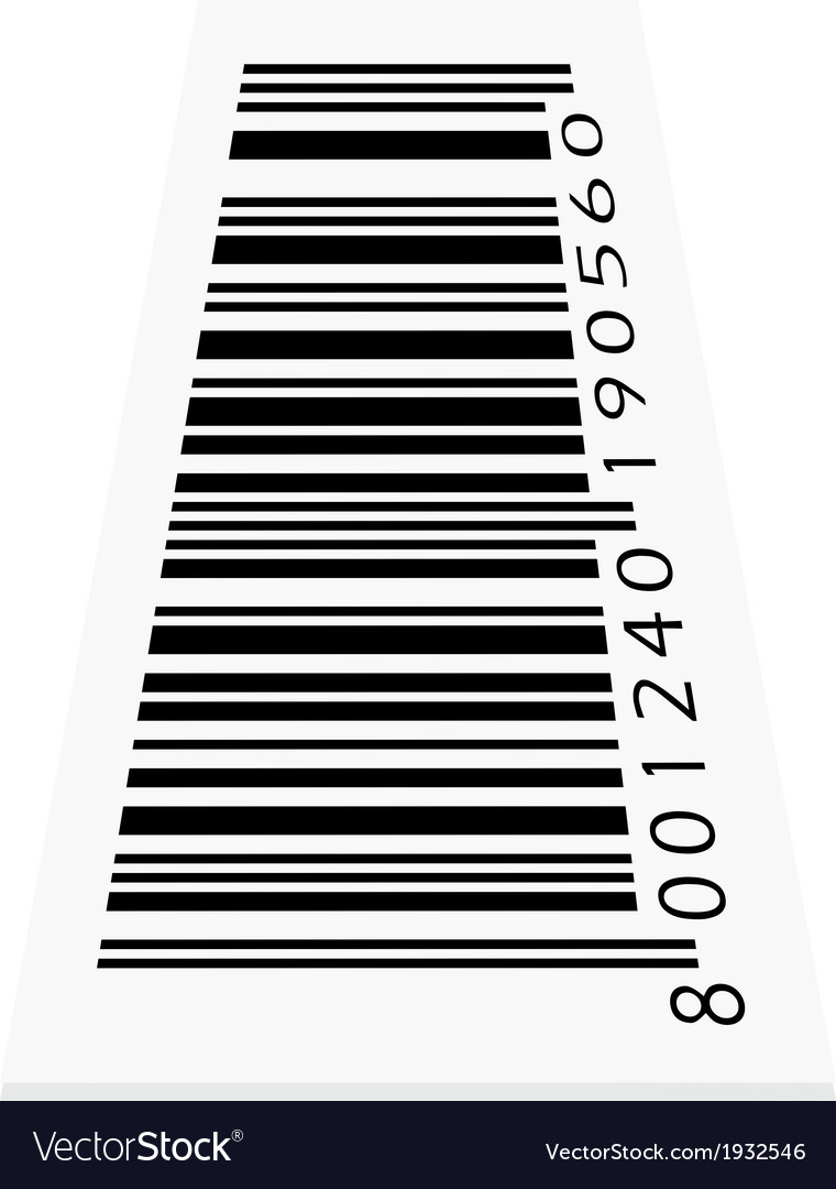 Barcode on white background vector | Price: 1 Credit (USD $1)