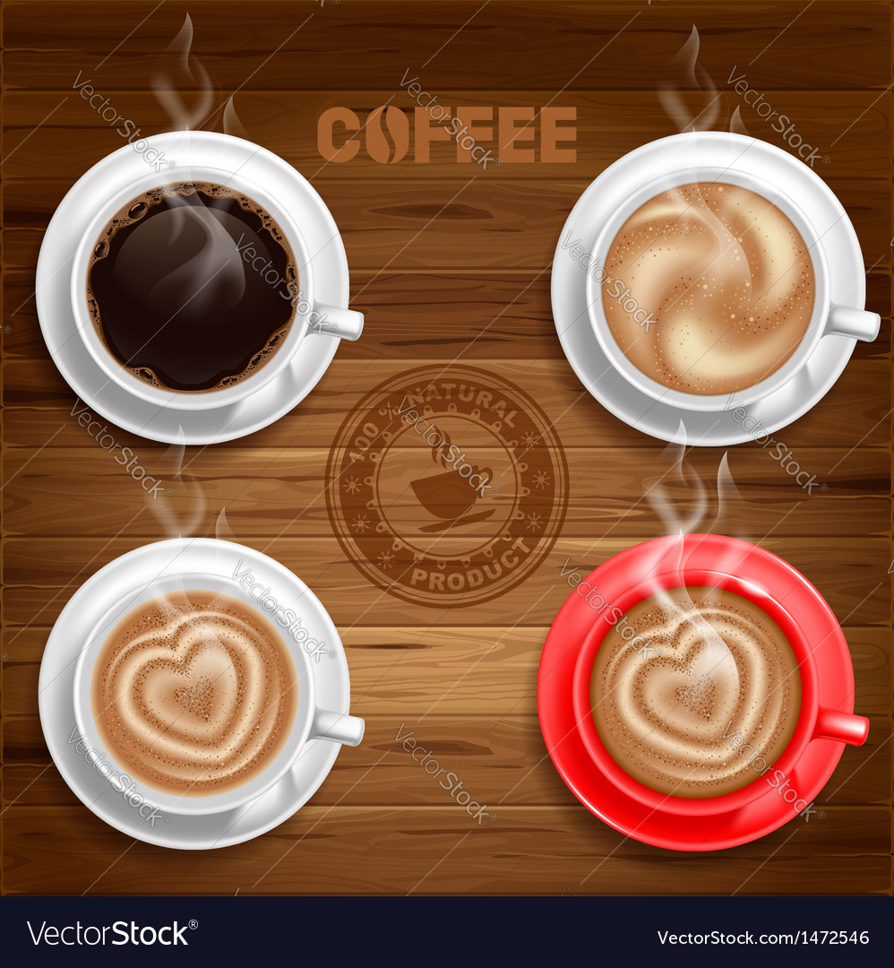 Coffee cup set vector | Price: 3 Credit (USD $3)