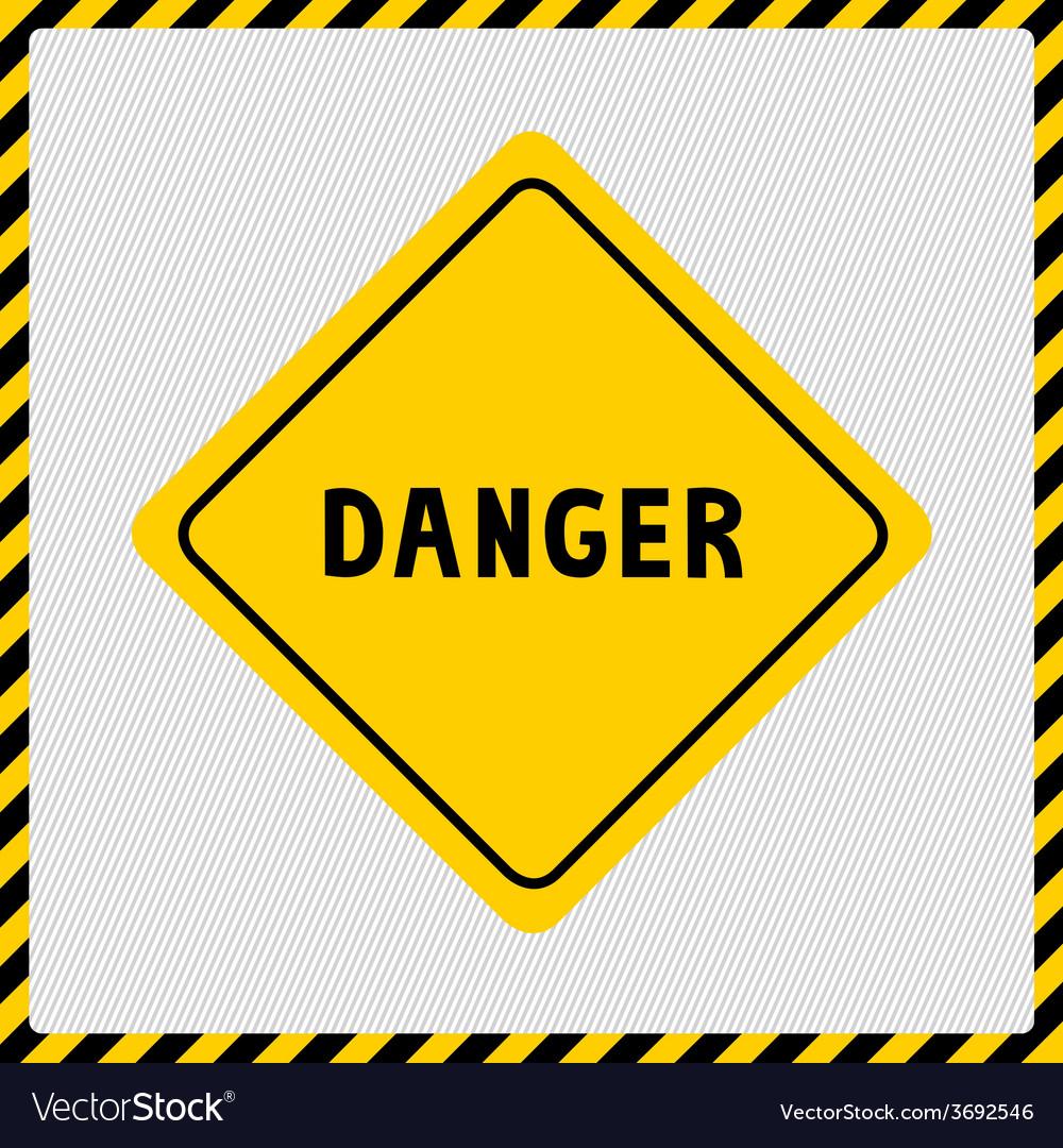 Danger sign2 vector | Price: 1 Credit (USD $1)