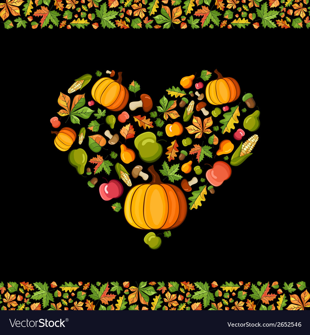 Fall season card vector | Price: 1 Credit (USD $1)