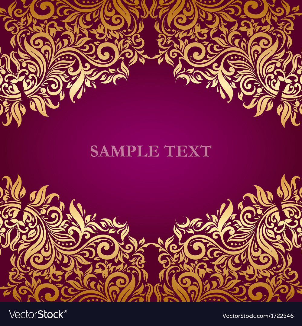 Ornate invitation design vector | Price: 1 Credit (USD $1)
