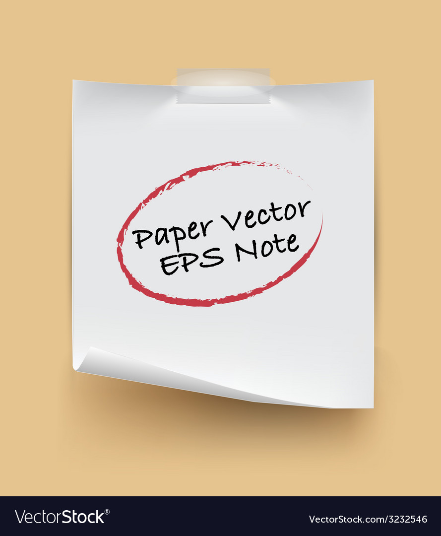 Paper note isolated vector | Price: 1 Credit (USD $1)