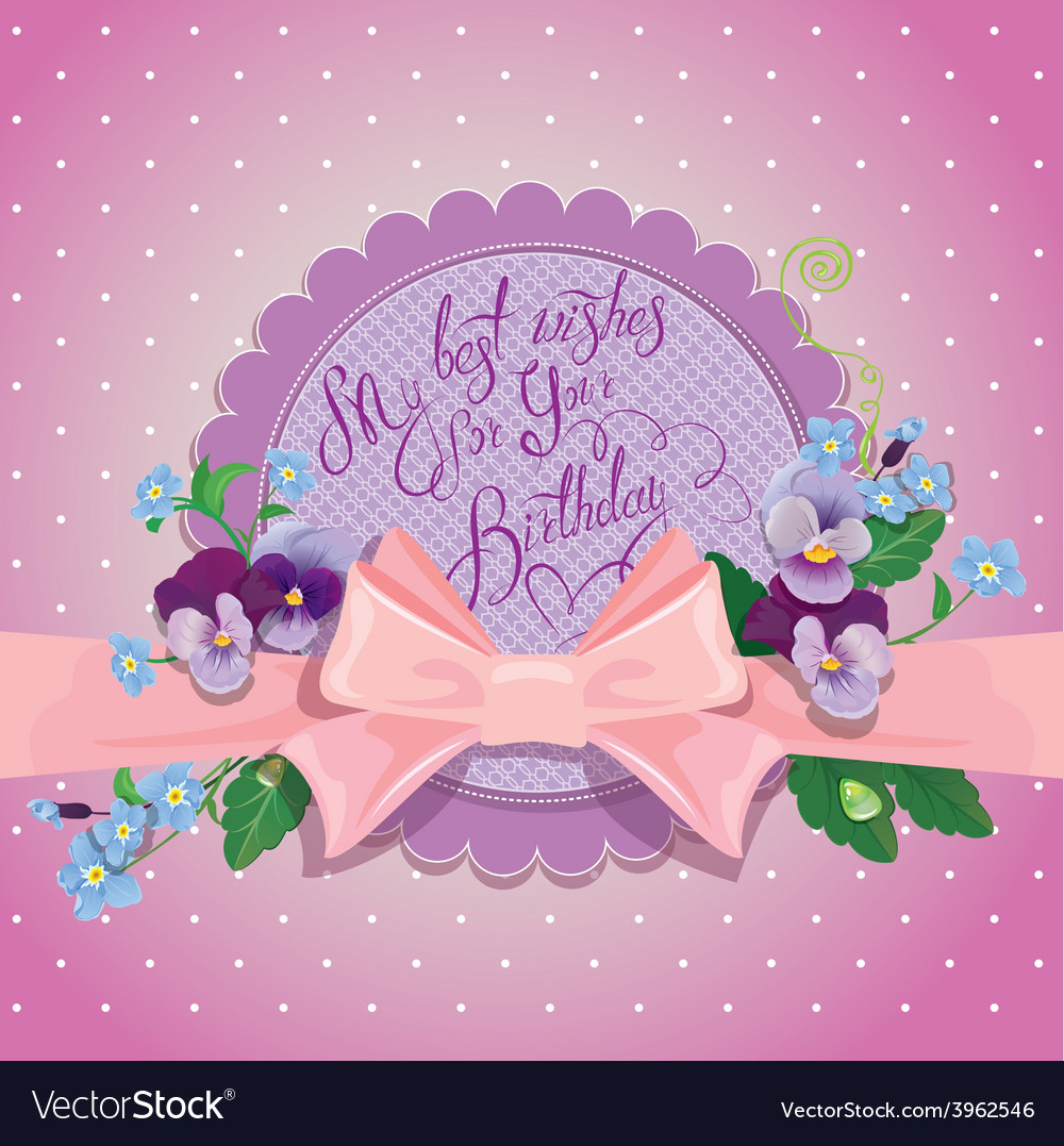 Pink bow card 380 vector | Price: 1 Credit (USD $1)
