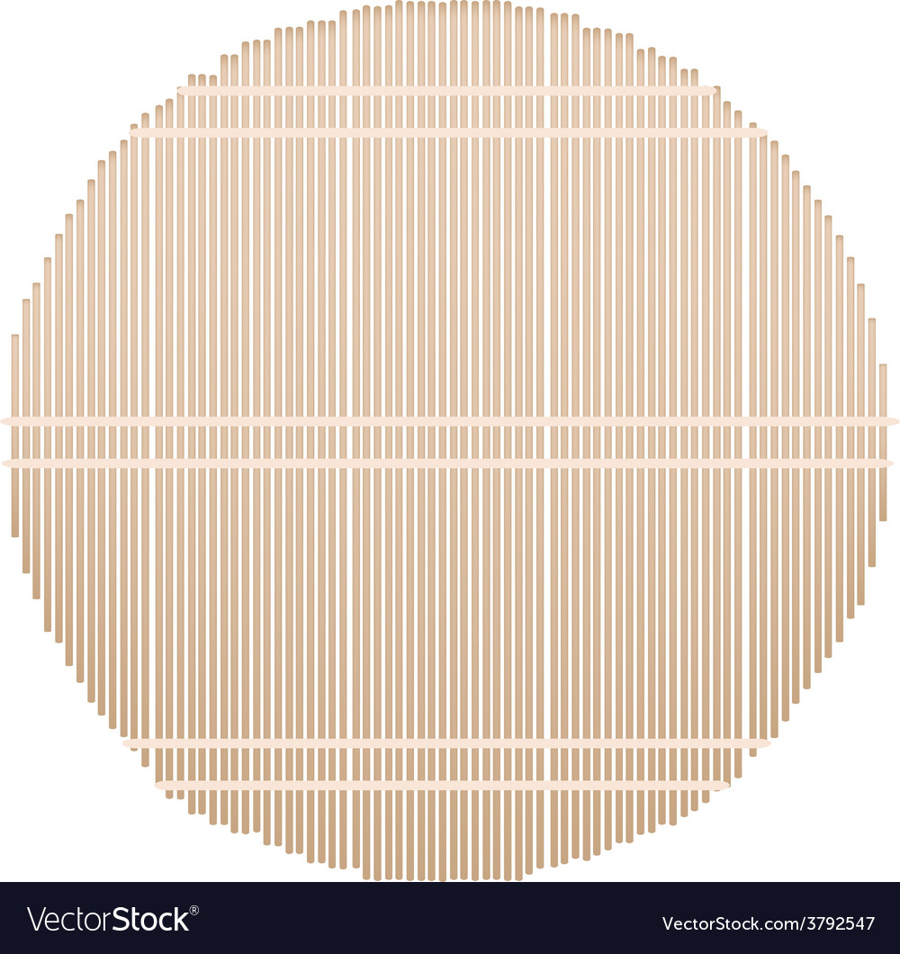 A round bamboo mat on white background vector | Price: 1 Credit (USD $1)