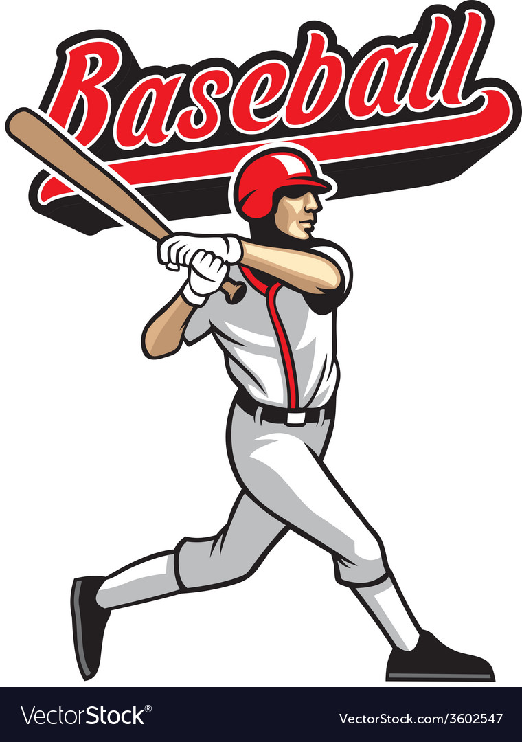 Baseball batter vector | Price: 3 Credit (USD $3)