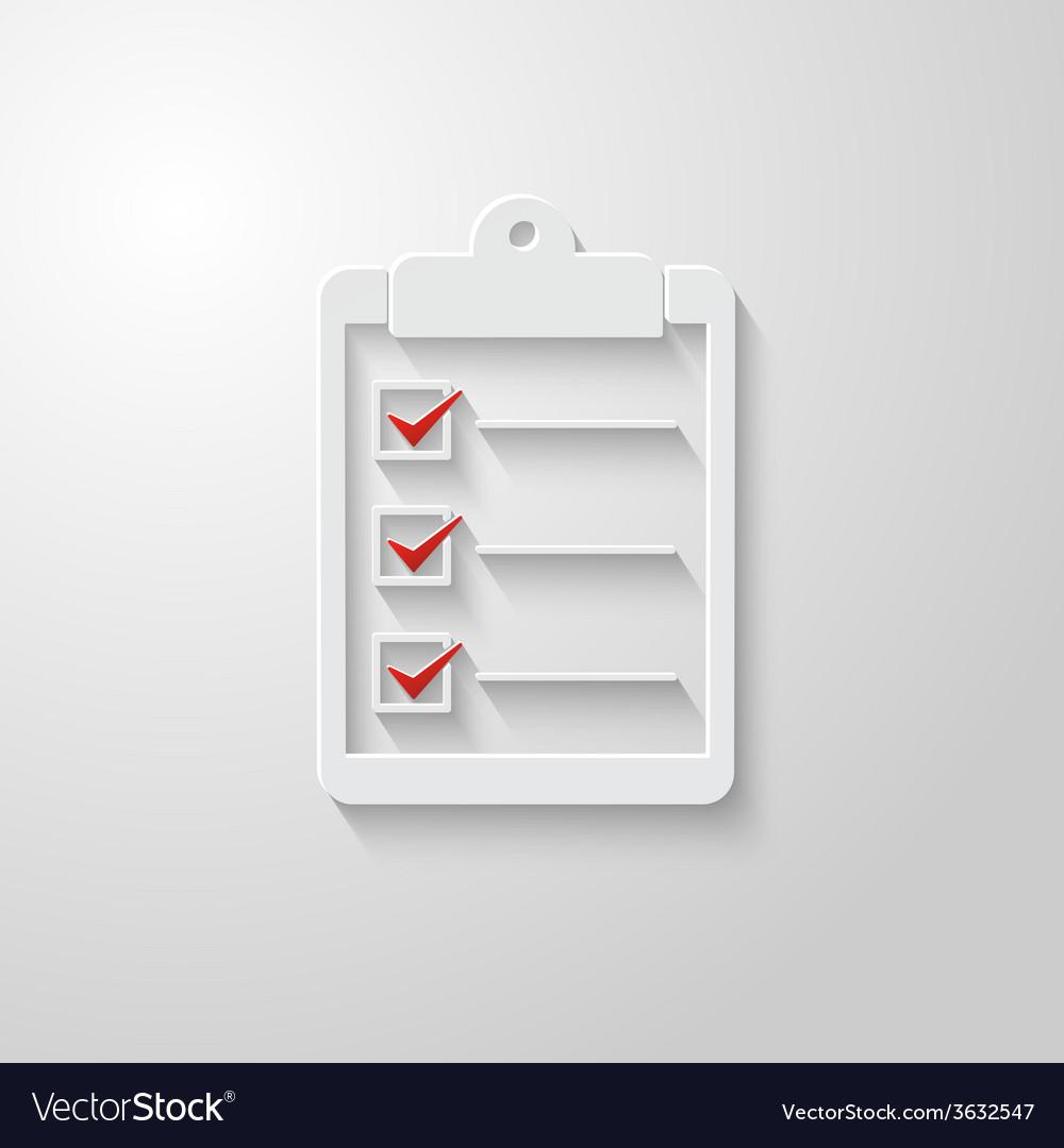Check list icon 2 vector | Price: 1 Credit (USD $1)