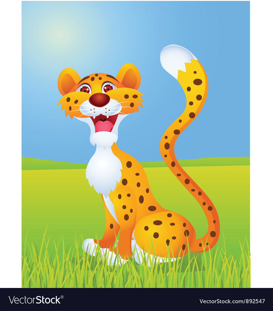 Cheetah cartoon vector | Price: 1 Credit (USD $1)
