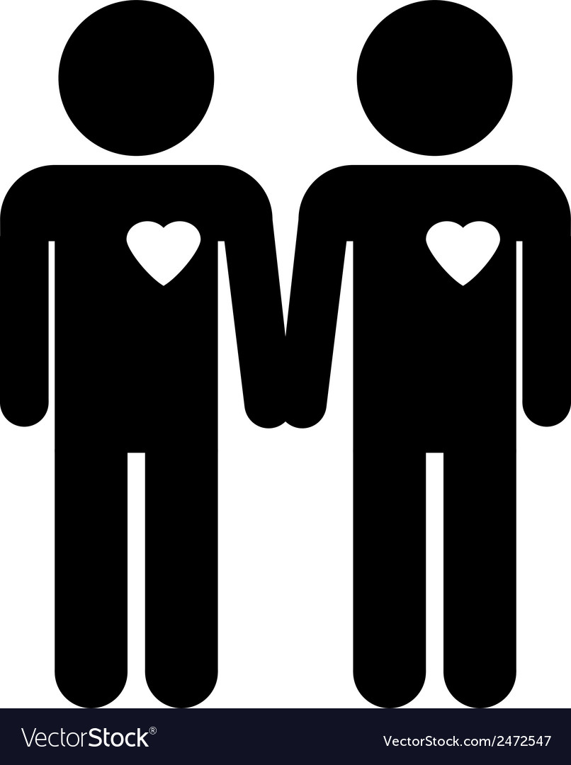 Gay couple symbol vector | Price: 1 Credit (USD $1)