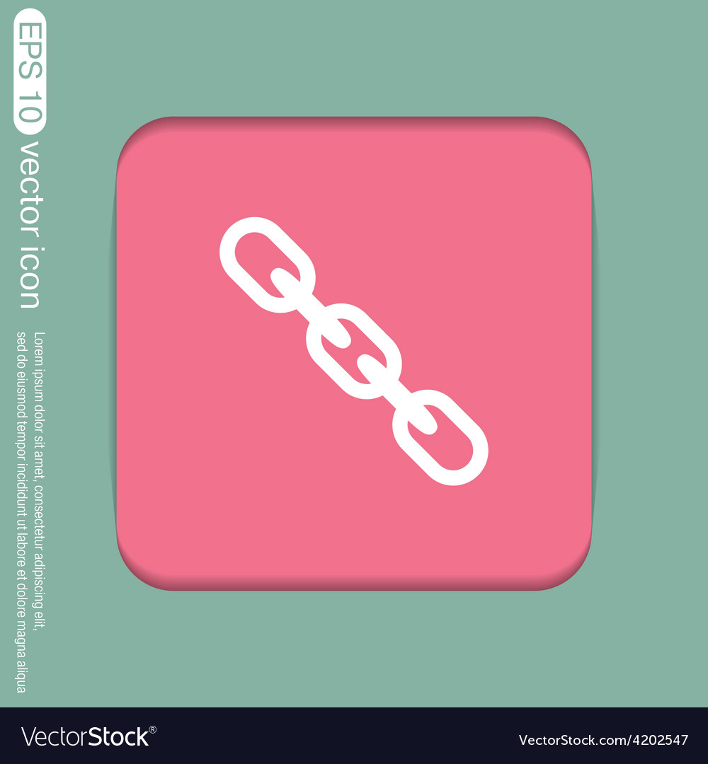 Links chain icon vector   Price: 1 Credit (USD $1)