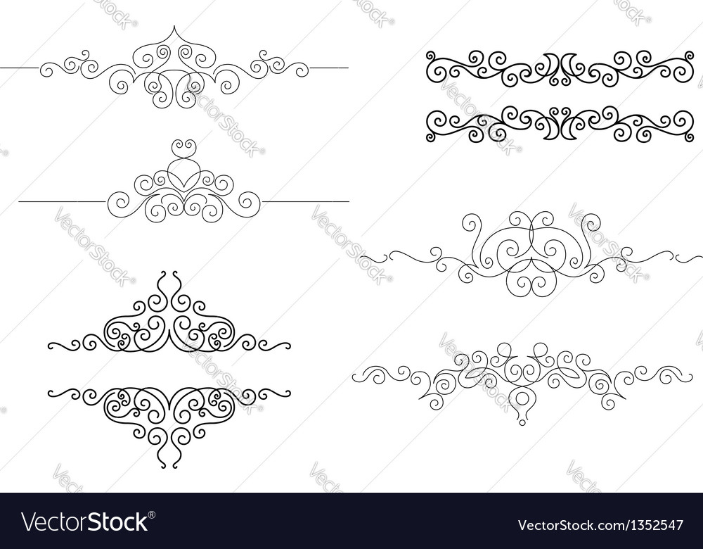 Monograms and frames in vignette style vector | Price: 1 Credit (USD $1)