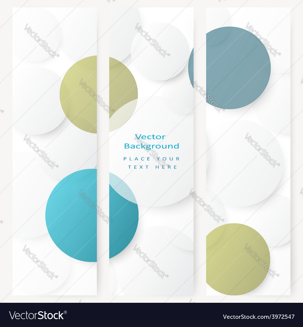 Set of abstract template banner vector   Price: 1 Credit (USD $1)