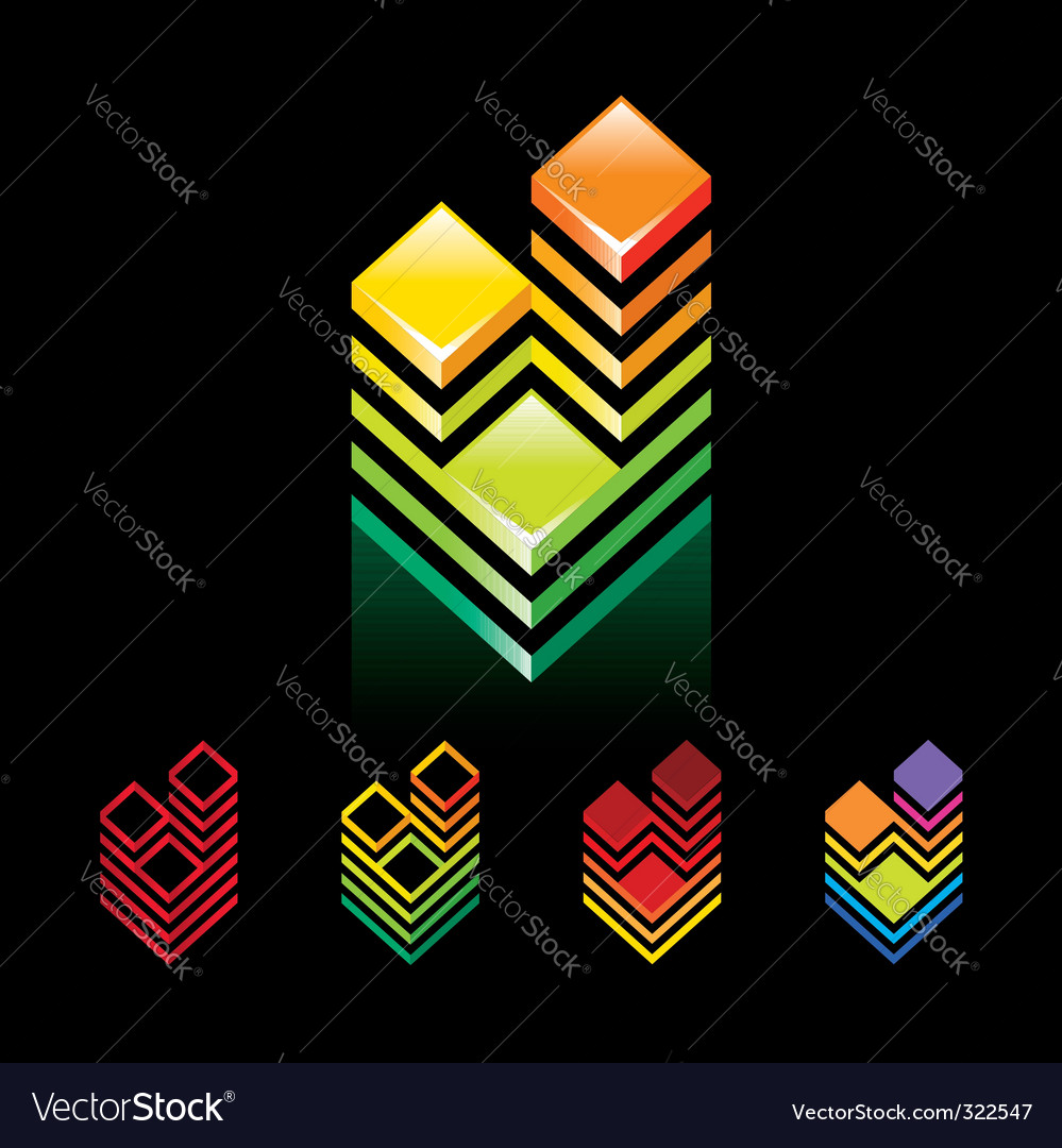 Sign building towers vector   Price: 3 Credit (USD $3)