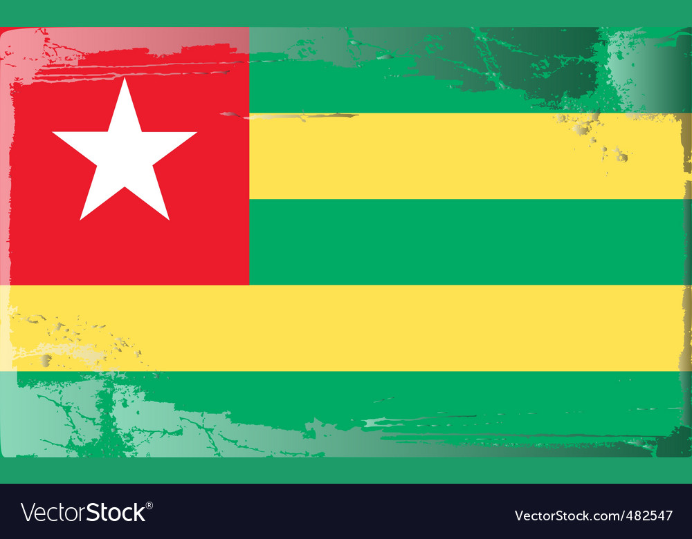 Togo national flag vector   Price: 1 Credit (USD $1)
