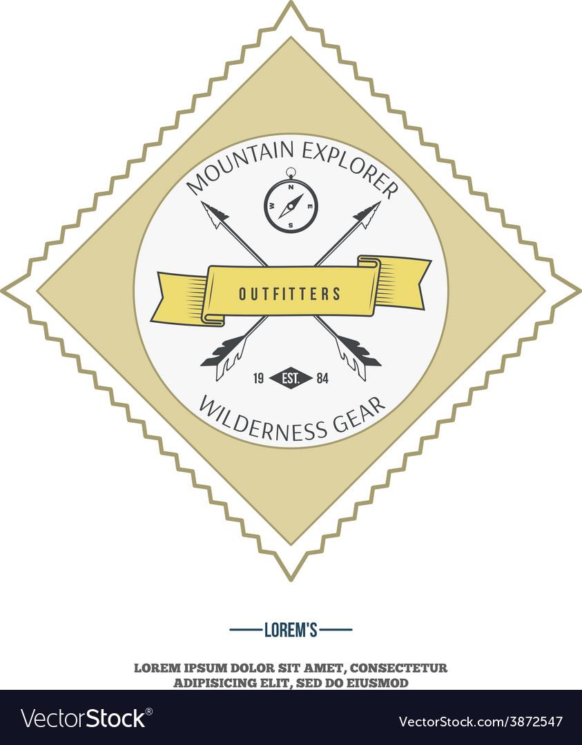 Wilderness gear adventure badge graphic design vector | Price: 1 Credit (USD $1)