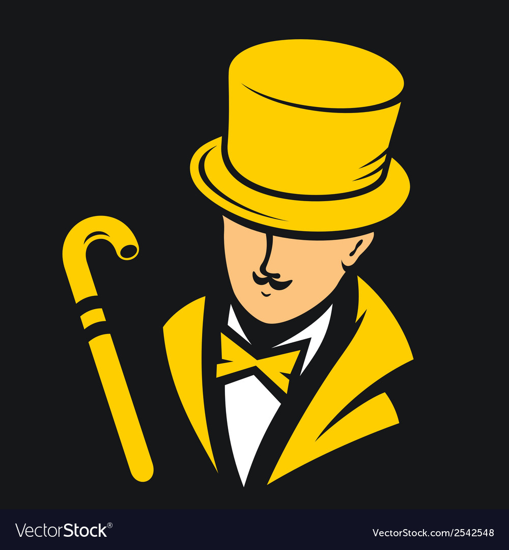 Gentleman sign vector | Price: 1 Credit (USD $1)
