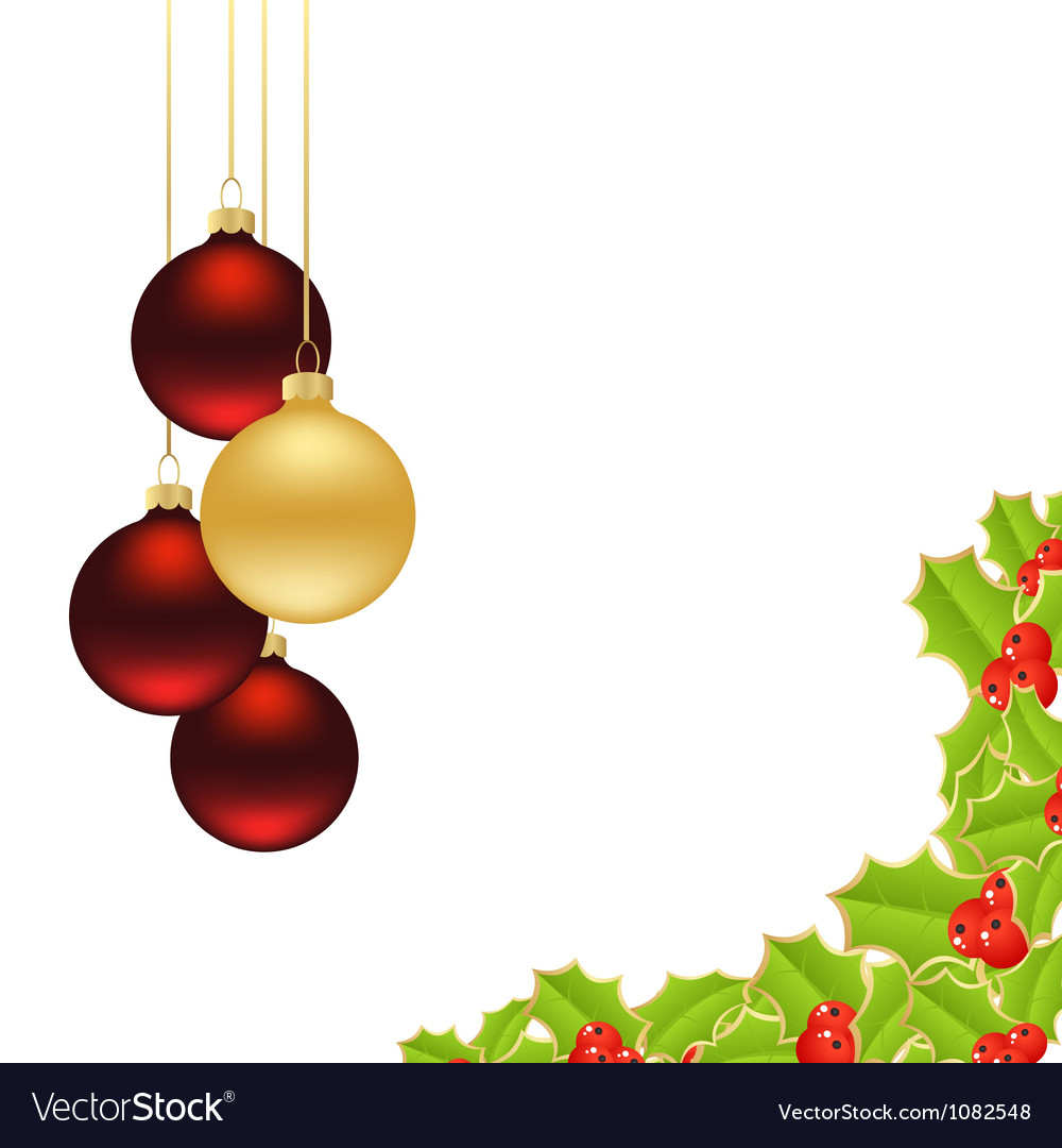 Holly background 2 vector | Price: 1 Credit (USD $1)