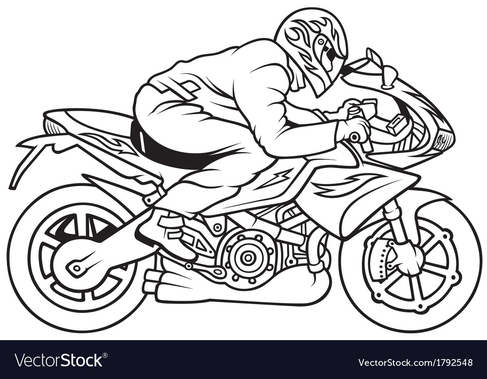 Motorcycle racing vector | Price: 1 Credit (USD $1)