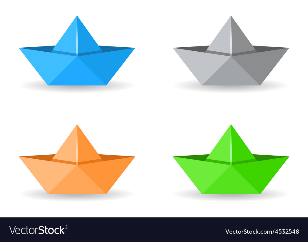 Origami boats vector | Price: 1 Credit (USD $1)