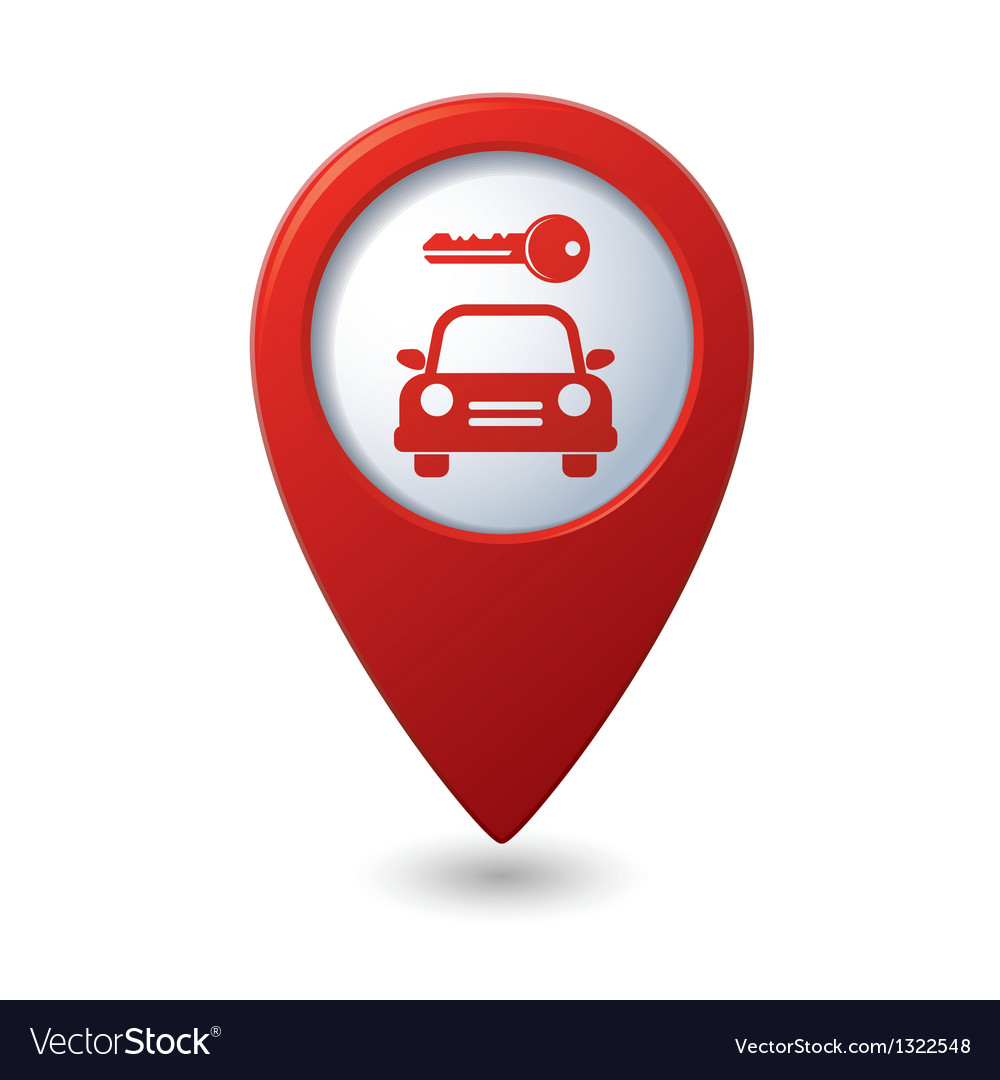 Parking for car icon on map pointer vector | Price: 1 Credit (USD $1)