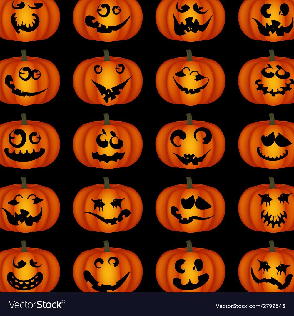 Pumpkin faces vector | Price: 1 Credit (USD $1)