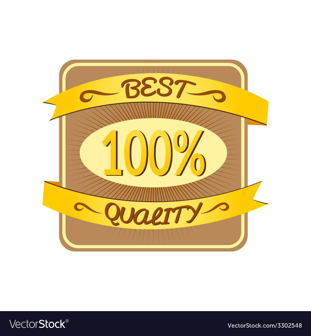 Retro best quality label vector | Price: 1 Credit (USD $1)