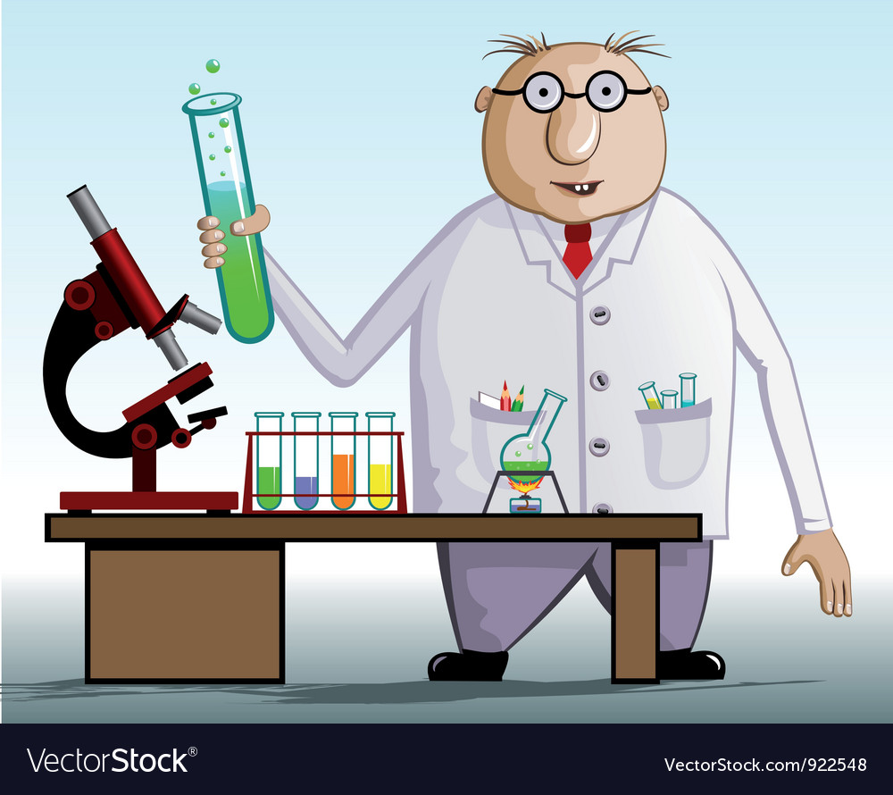 Scientist vector | Price: 3 Credit (USD $3)