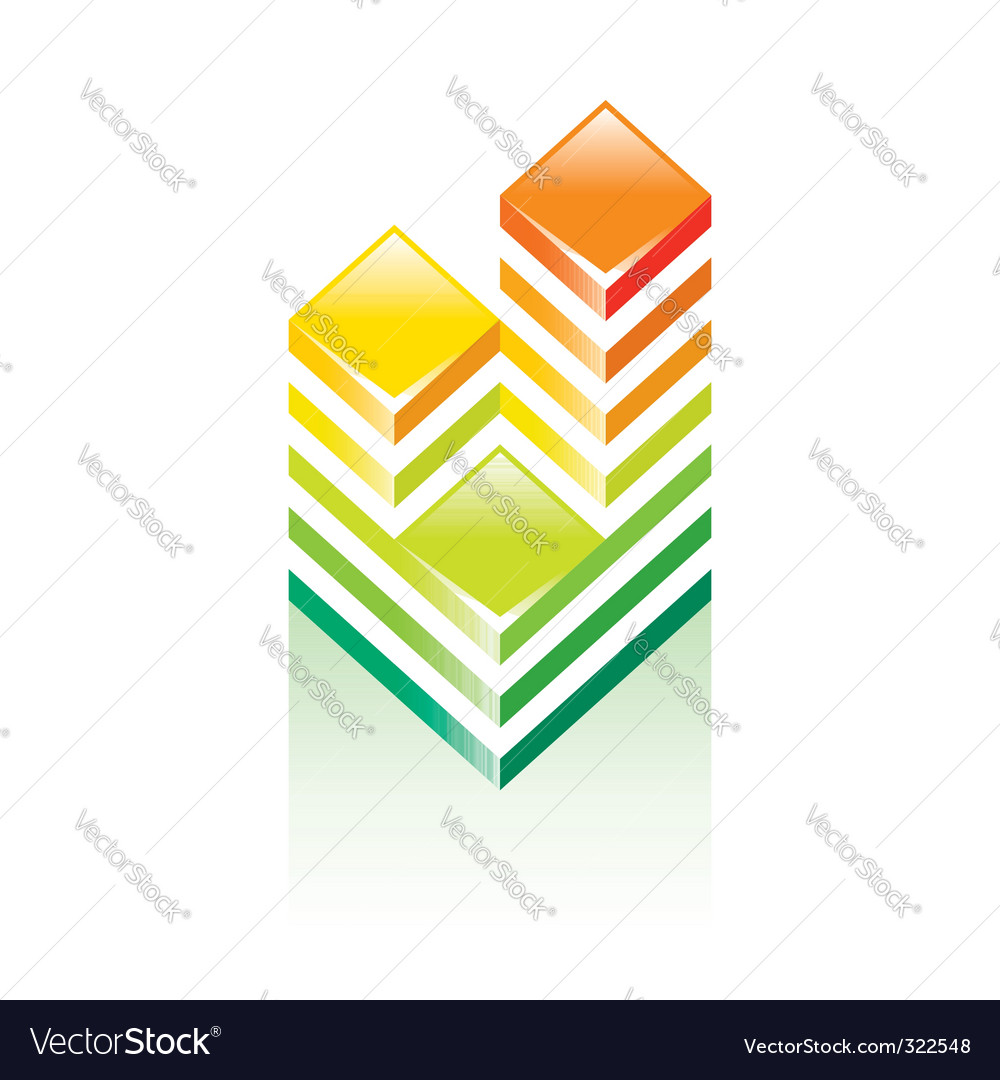 Sign building towers vector | Price: 1 Credit (USD $1)