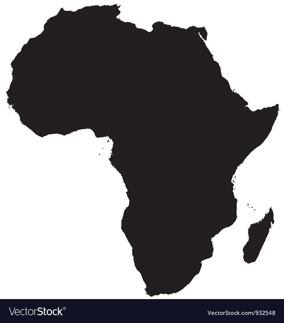Silhouette map of africa vector | Price: 1 Credit (USD $1)